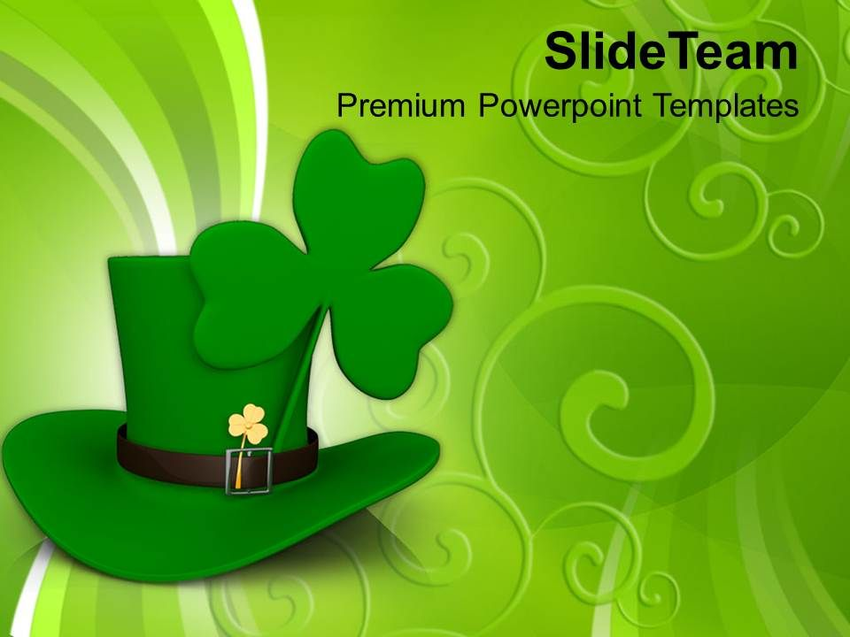 happy_st_patricks_day_long_hat_and_clover_leaf_saint_templates_ppt_backgrounds_for_slides_Slide01