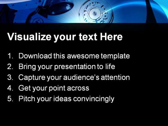 hard drive computer powerpoint templates and powerpoint, Presentation templates