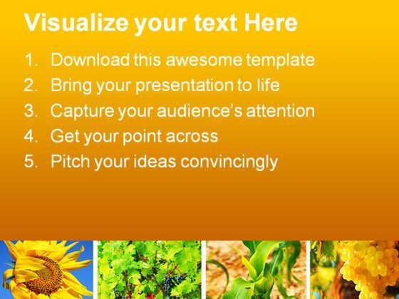 Harvest Concept Collage Agriculture Powerpoint Templates And