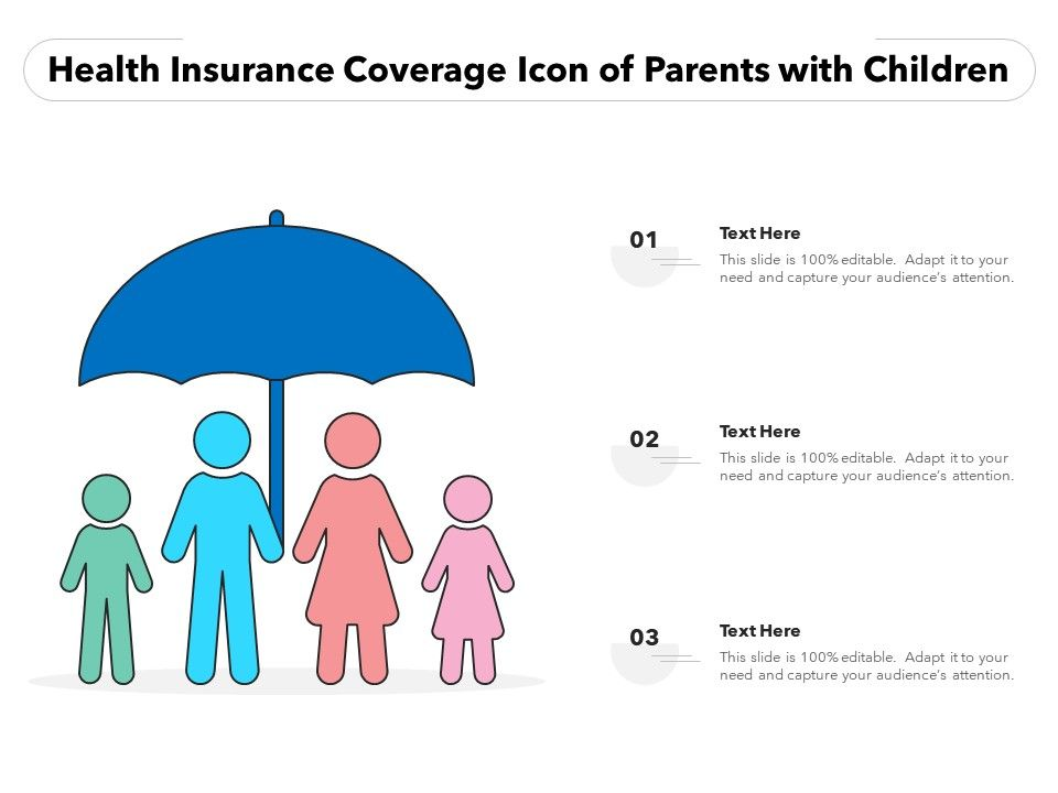 Health Insurance Coverage Icon Of Parents With Children