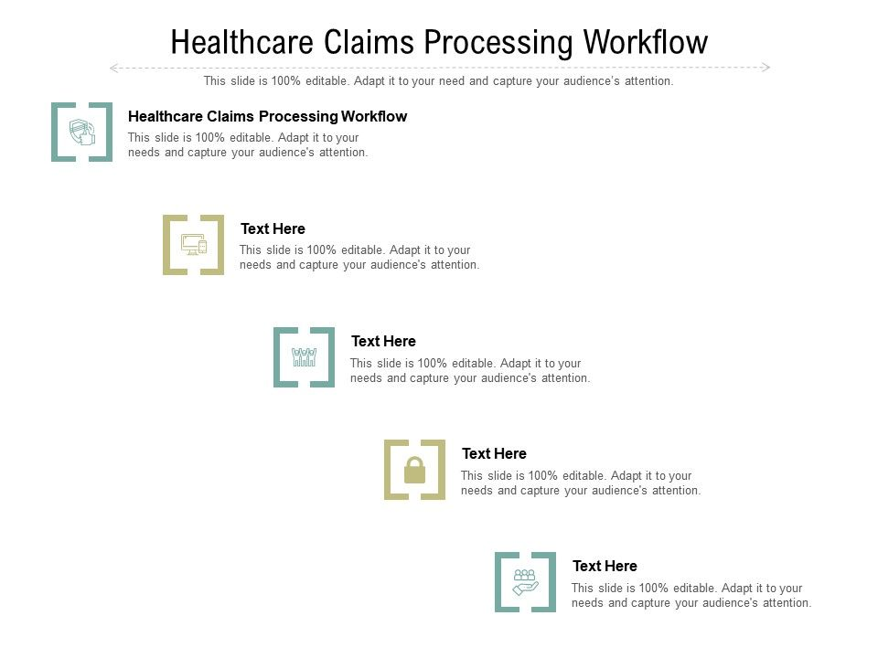 Healthcare Claims Processing Workflow Ppt Presentation File Introduction Cpb