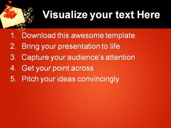 heart envelope wedding powerpoint template 0610 | powerpoint, Powerpoint templates