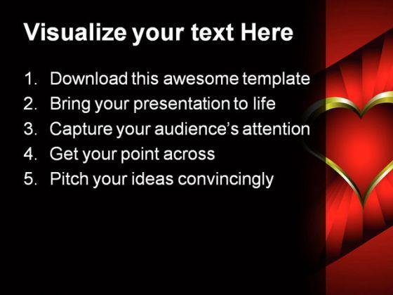 heart wedding powerpoint template 0610 | presentation powerpoint, Powerpoint templates