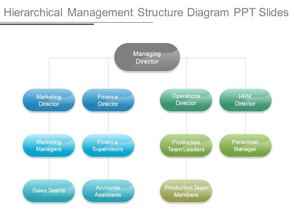hierarchical_management_structure_diagram_ppt_slides_Slide01 53248027 style hierarchy 1 many 4 piece powerpoint presentation
