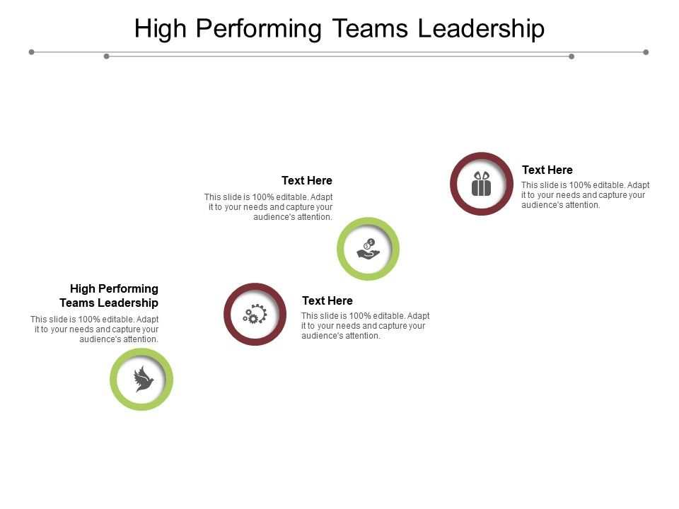 High Performing Teams Leadership Ppt Powerpoint Presentation Styles Layout Cpb