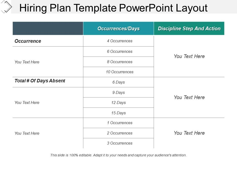 hiring plan template powerpoint layout powerpoint shapes. Black Bedroom Furniture Sets. Home Design Ideas