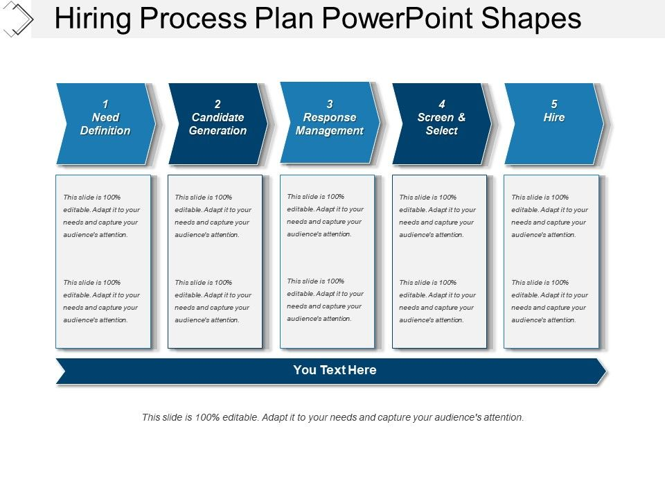 job aids template - hiring process plan powerpoint shapes graphics