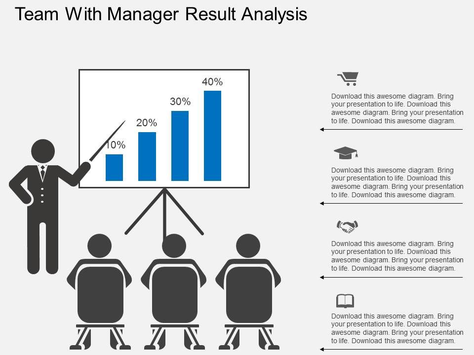 ho_team_with_manager_result_analysis_flat_powerpoint_design_Slide01