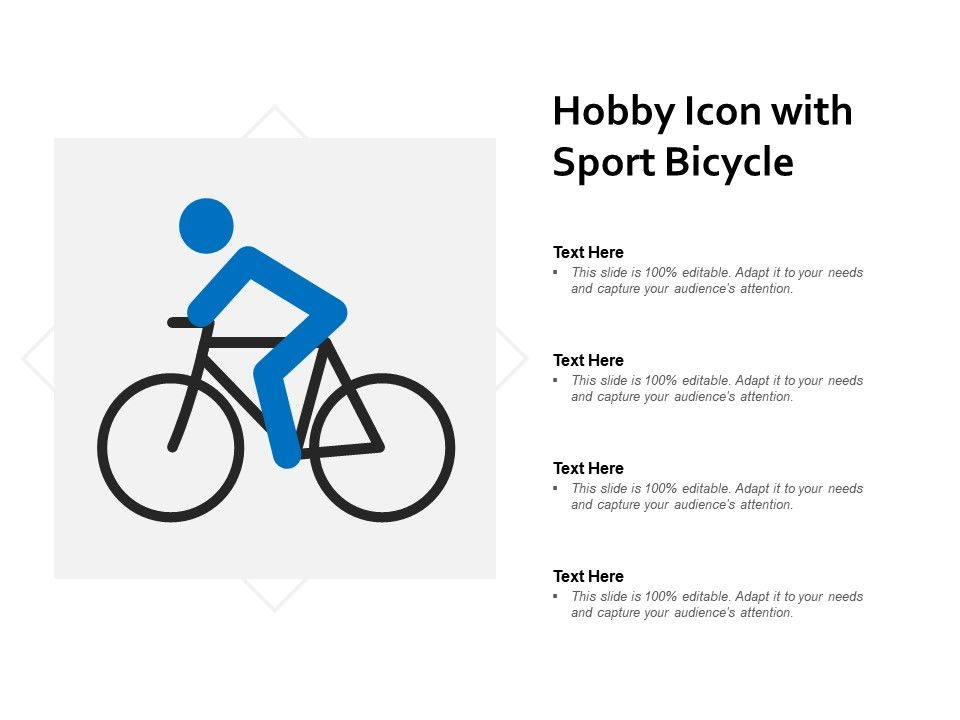 Hobby Icon With Sport Bicycle