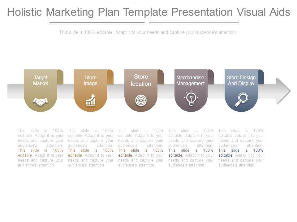 holistic marketing plan template presentation visual aids