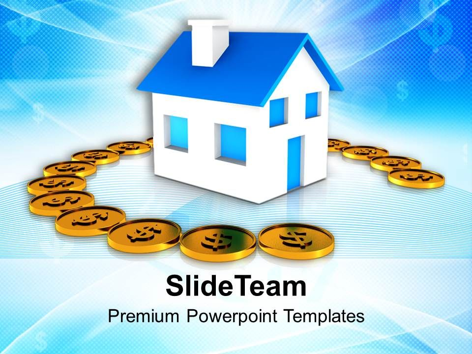 home_surrounded_by_dollars_insurance_savings_powerpoint_templates_ppt_themes_and_graphics_0213_Slide01