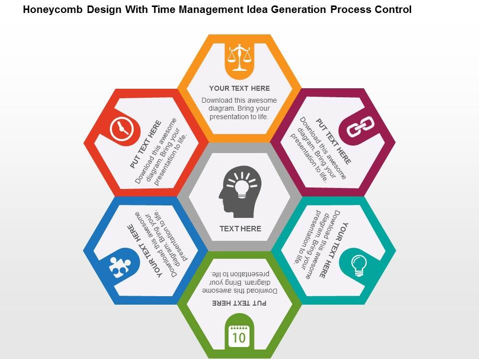 Honeycomb design with time management idea generation process honeycombdesignwithtimemanagementideagenerationprocesscontrolflatpowerpointdesignslide01 toneelgroepblik Gallery
