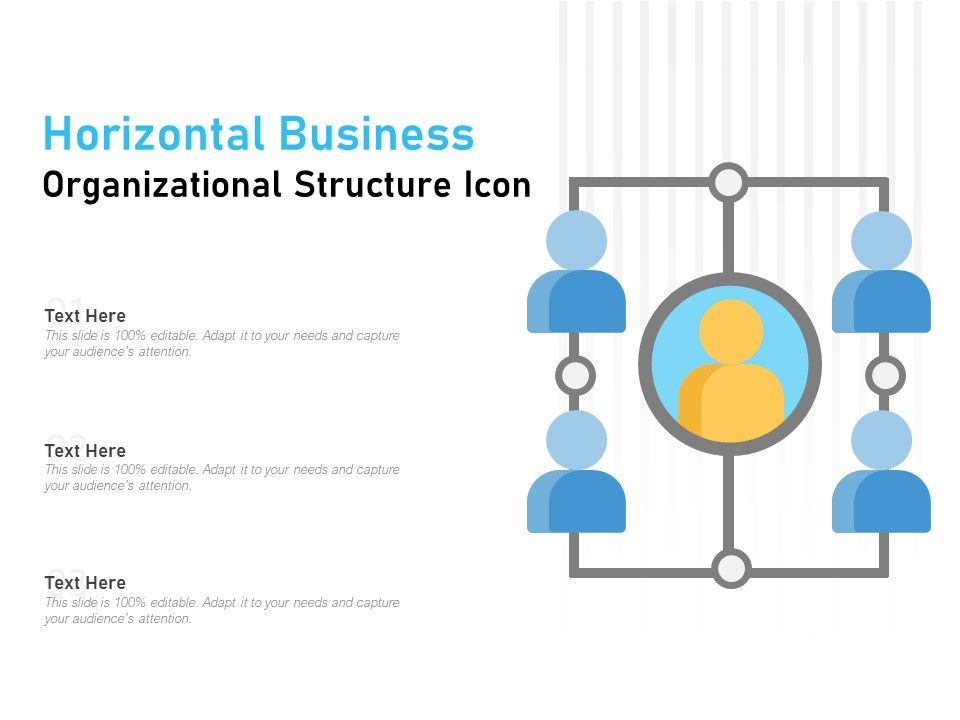 horizontal business organizational structure icon powerpoint presentation images templates ppt slide templates for presentation horizontal business organizational