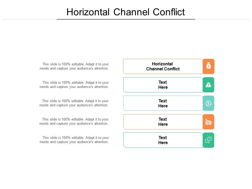 Horizontal Channel Conflict Ppt Powerpoint Presentation Gallery Graphics Cpb