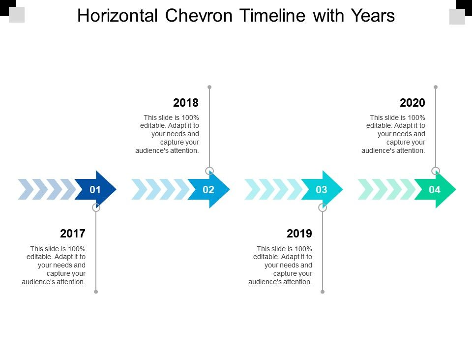 horizontal_chevron_timeline_with_years_Slide01