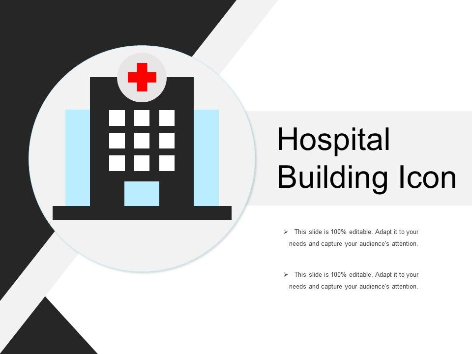 Hospital Building Icon Presentation Graphics
