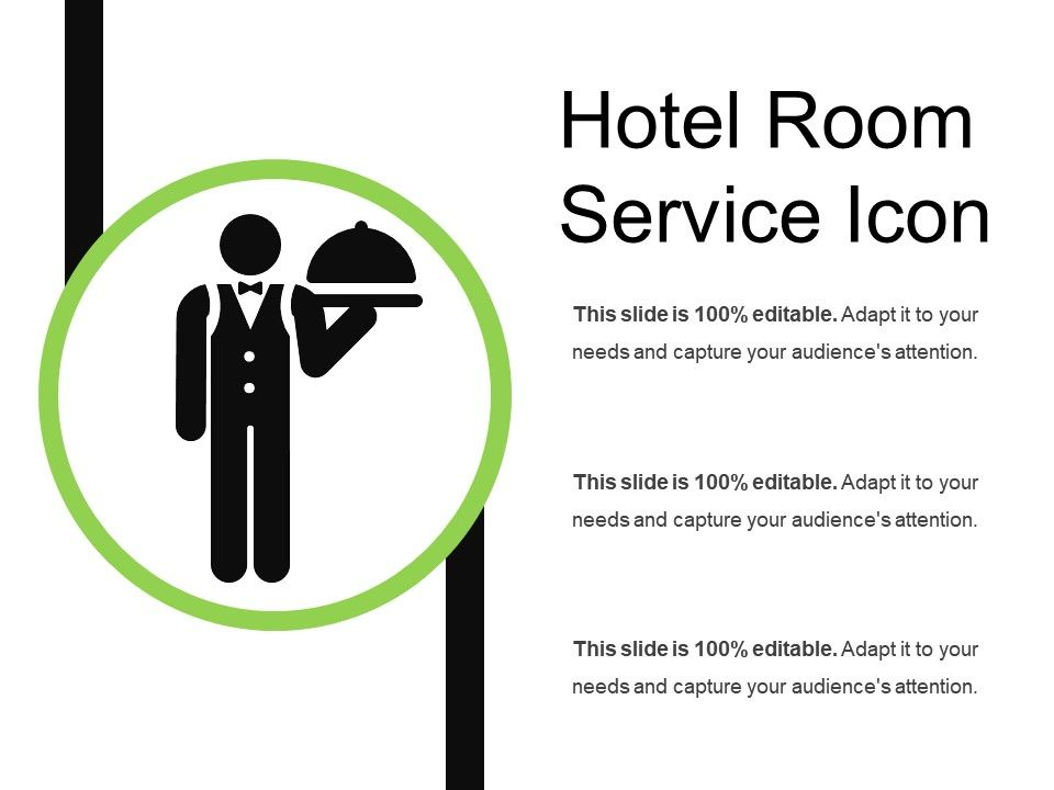 Hotel Room Service Icon Powerpoint Presentation Templates Ppt Template Themes Powerpoint Presentation Portfolio