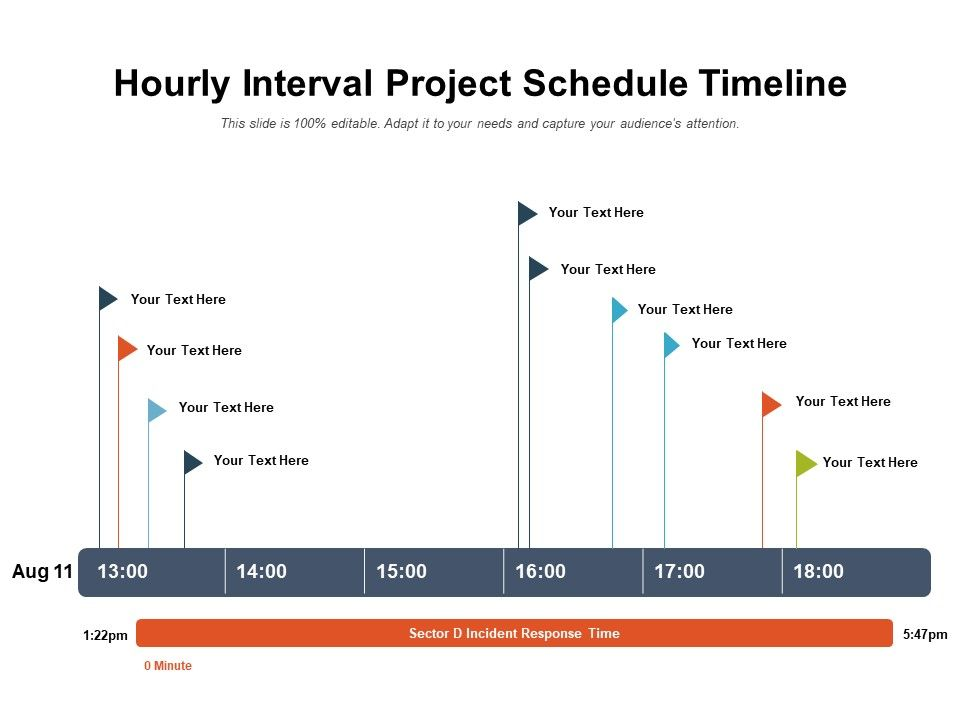 Hourly Interval Project Schedule Timeline