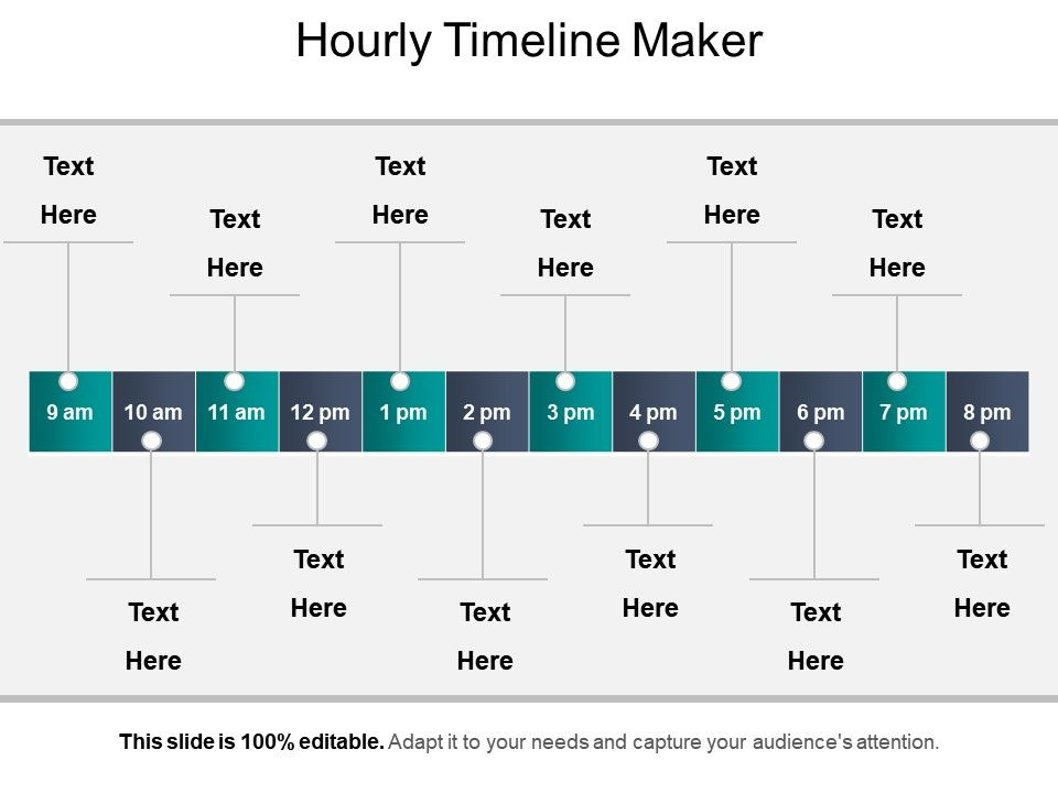 Hourly Timeline Maker Presentation Graphics | PowerPoint ...