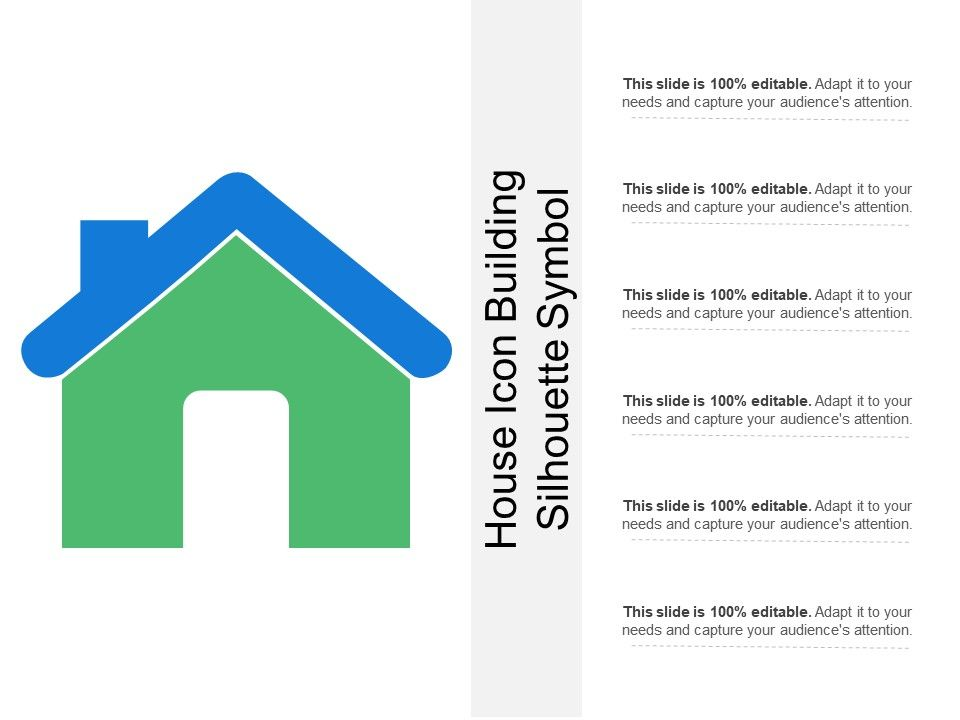 House Icon Building Silhouette Symbol Powerpoint Slides Diagrams