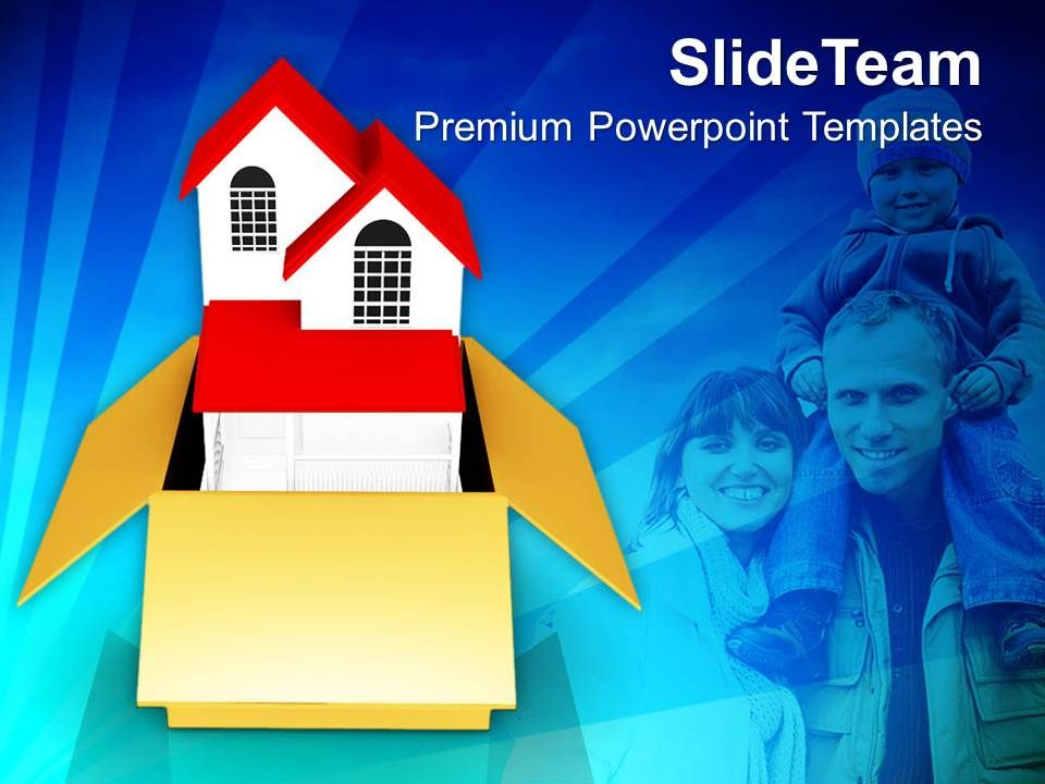House With Family In Box Relations PowerPoint Templates PPT