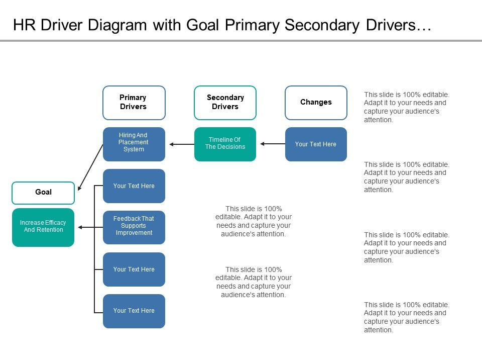 Hr Driver Diagram With Goal Primary Secondary Drivers And