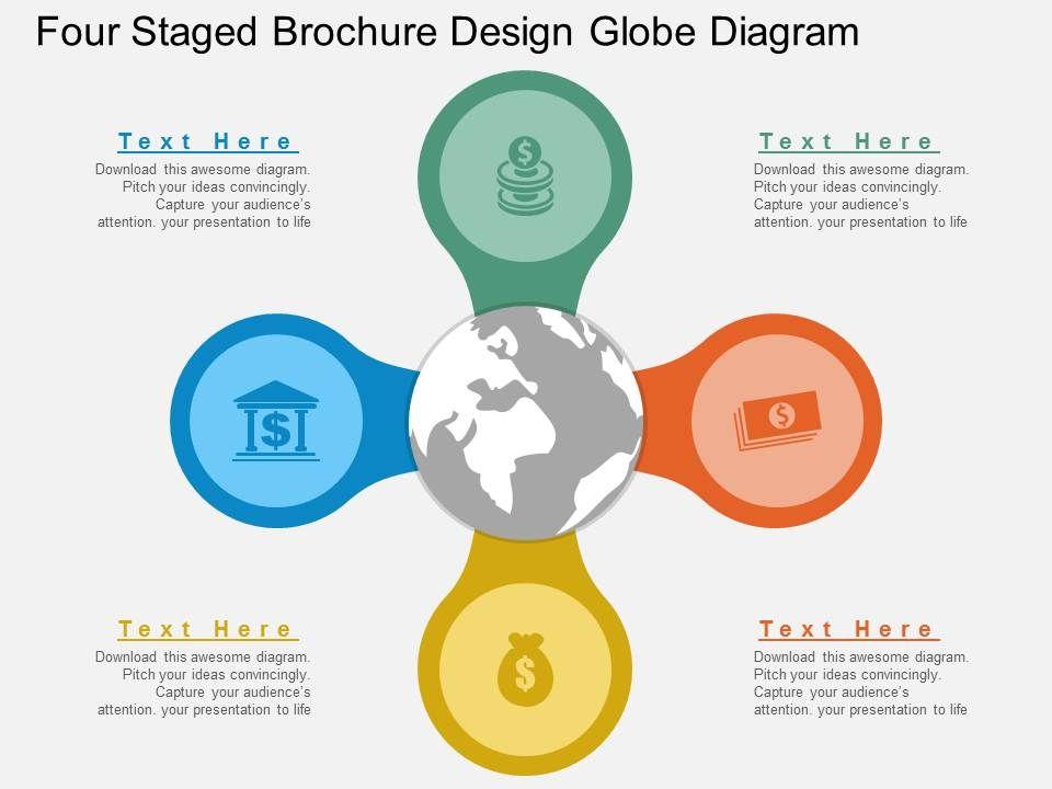 hr_four_staged_brochure_design_globe_diagram_flat_powerpoint_design_Slide01