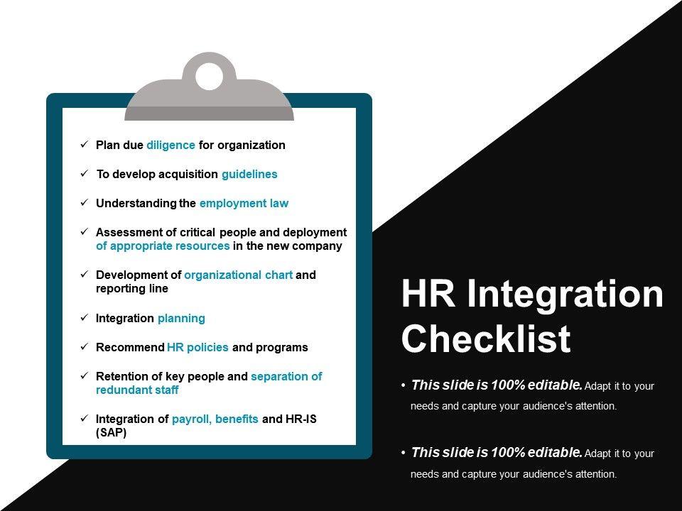 hr_integration_checklist_powerpoint_presentation_examples_Slide01