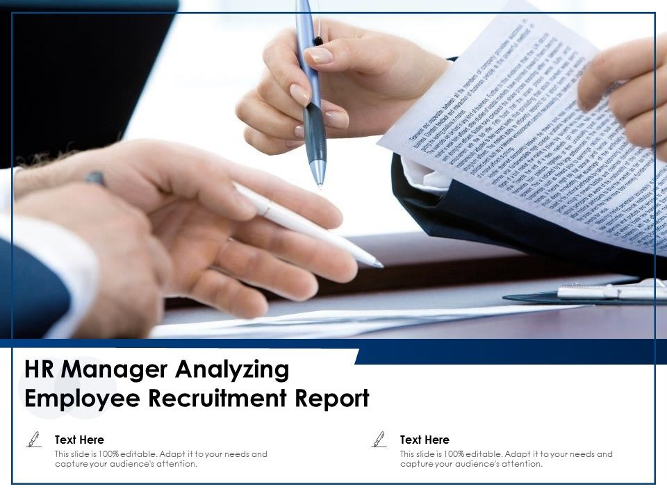 Hr Manager Analyzing Employee Recruitment Report