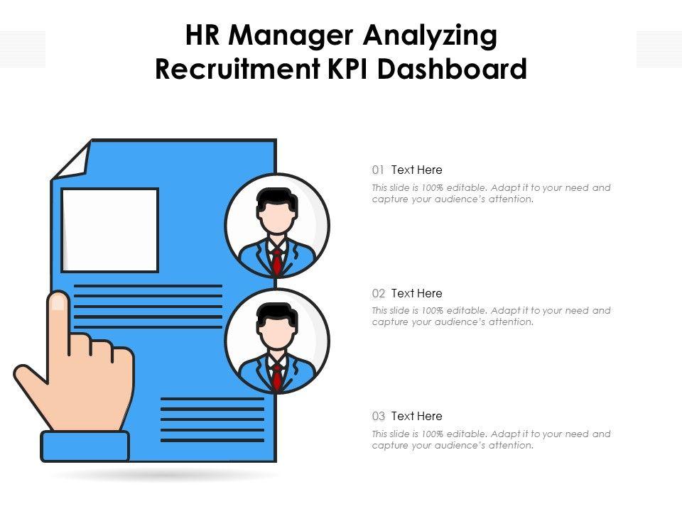 HR Manager Analyzing Recruitment KPI Dashboard