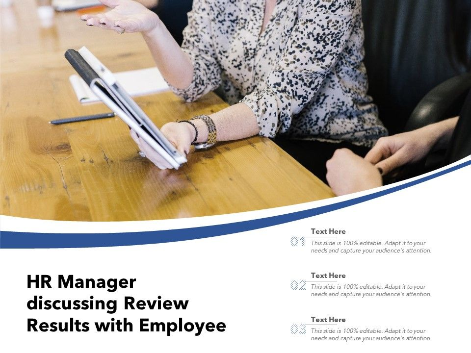 HR Manager Discussing Review Results With Employee