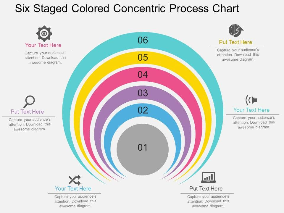 46147833 Style Circular Concentric 6 Piece Powerpoint Presentation
