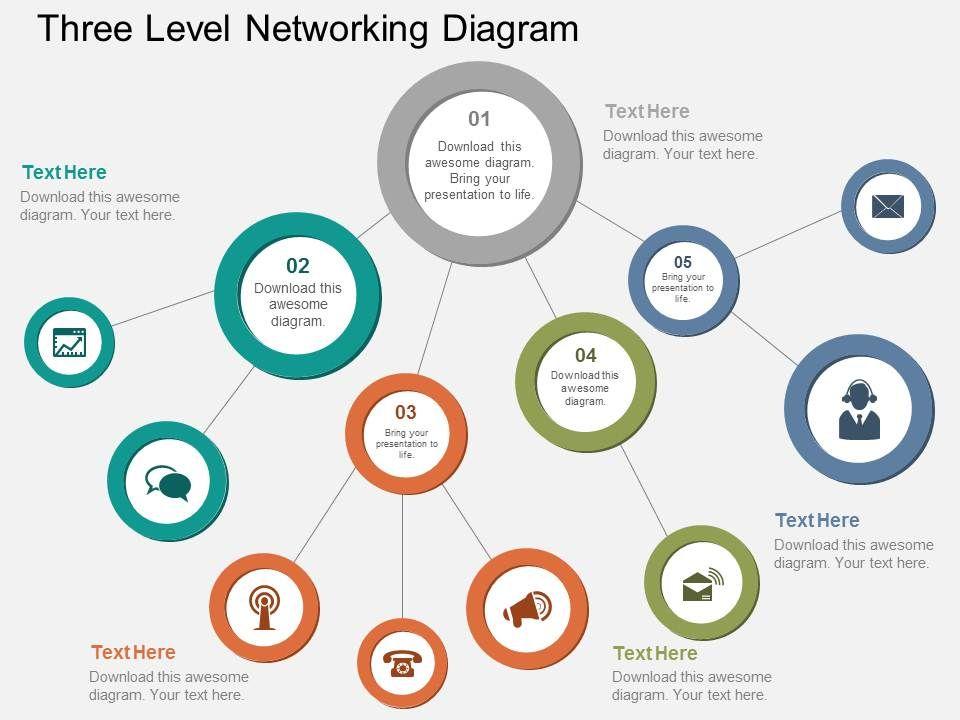 ht_three_level_networking_diagram_flat_powerpoint_design_Slide01