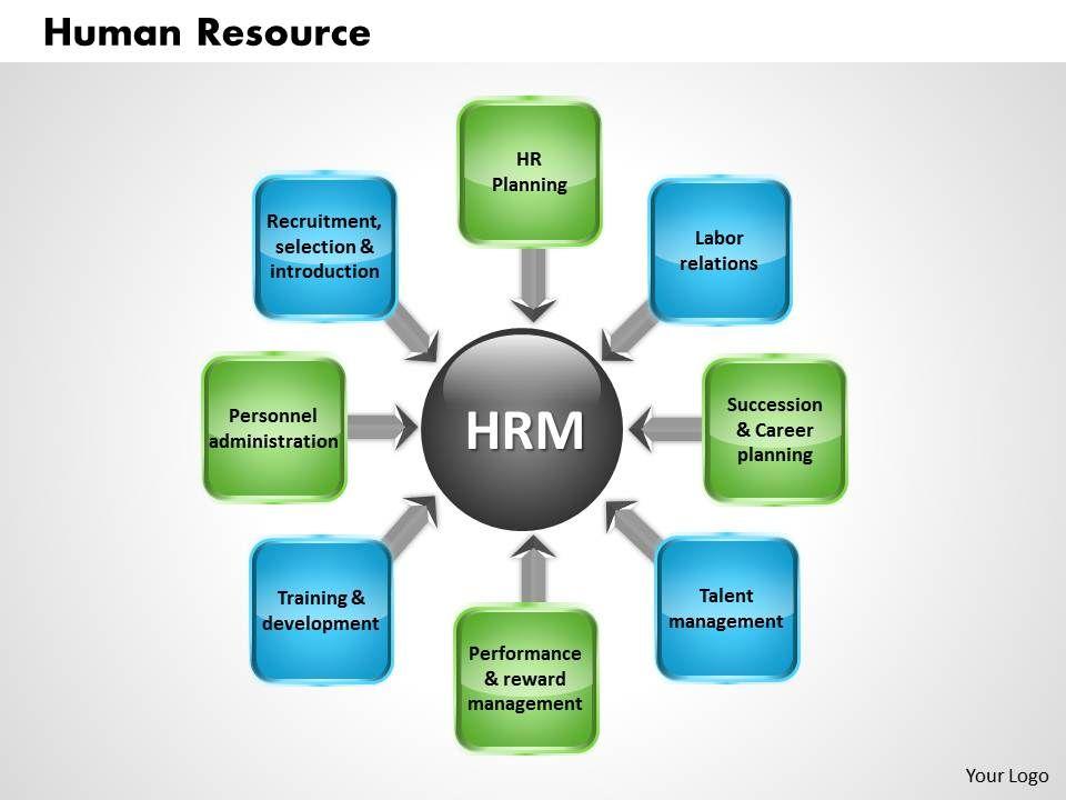 Human resource powerpoint presentation slide template | template.