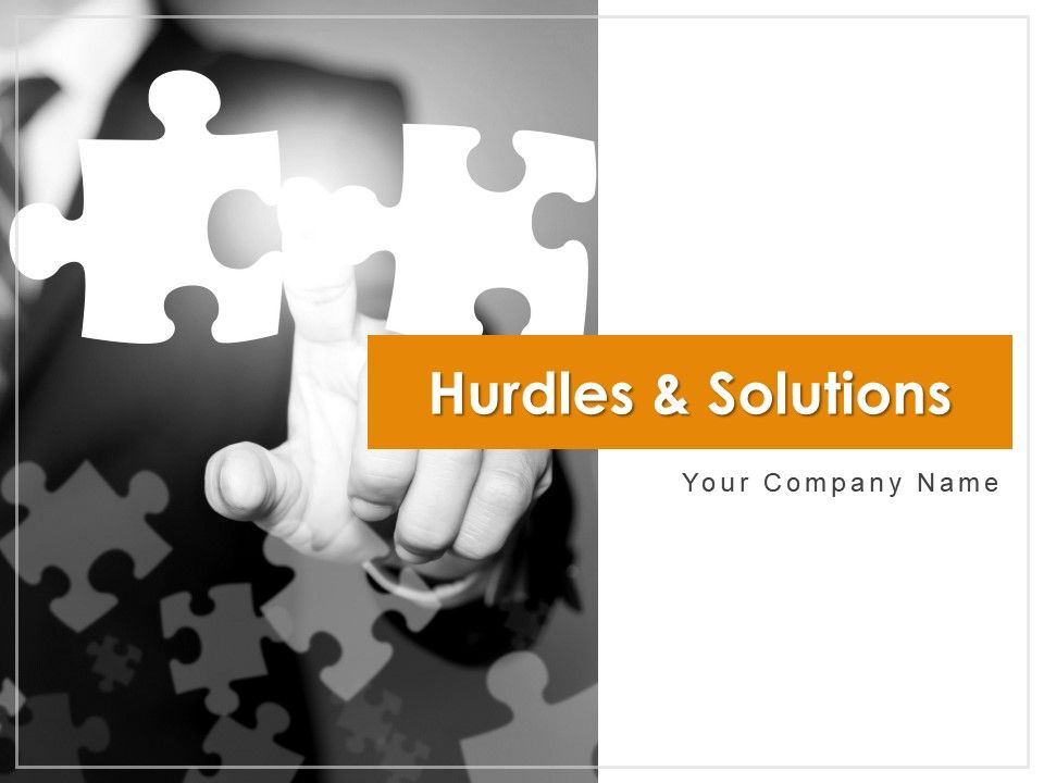 Hurdles And Solutions Powerpoint Presentation Slides