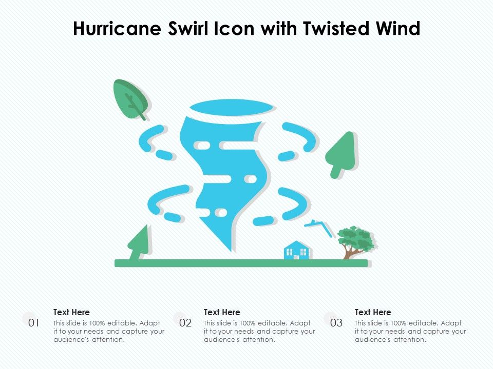 Hurricane Swirl Icon With Twisted Wind