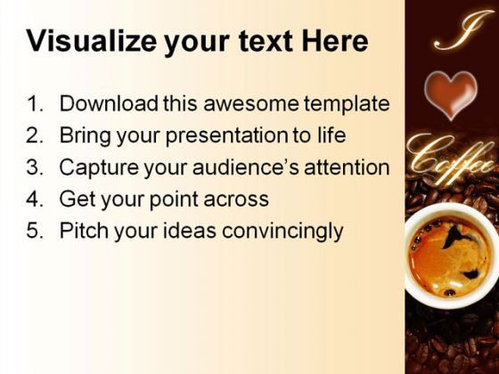 ... Coffee Food PowerPoint Templates And PowerPoint Backgrounds 0311