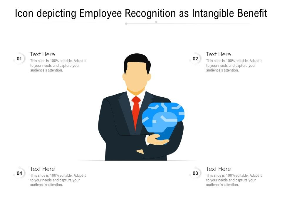 Icon Depicting Employee Recognition As Intangible Benefit