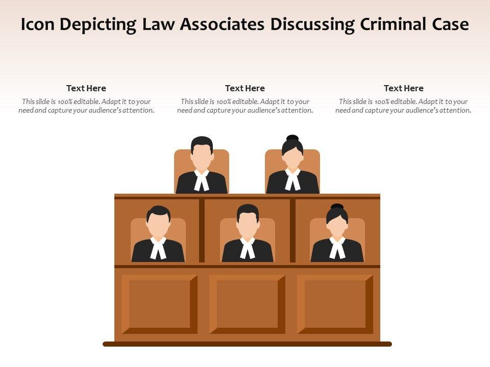 Icon Depicting Law Associates Discussing Criminal Case