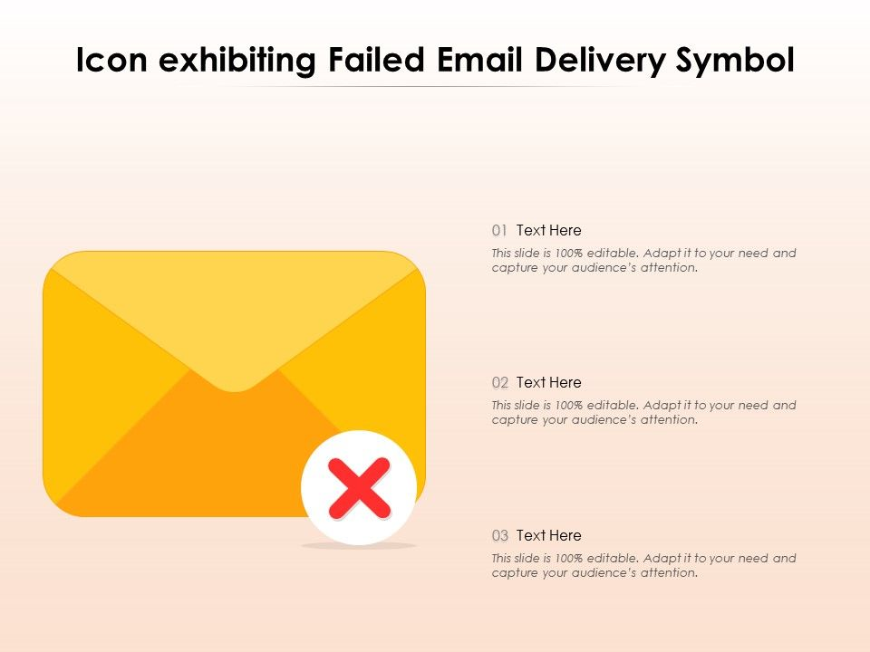 Icon Exhibiting Failed Email Delivery Symbol