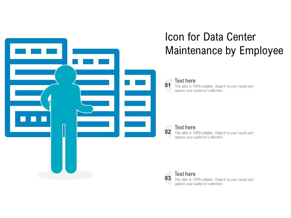 Icon For Data Center Maintenance By Employee