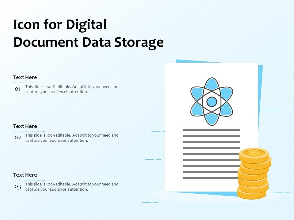 Icon For Digital Document Data Storage