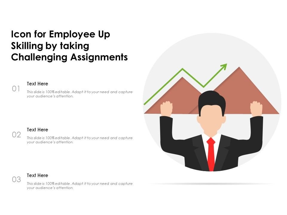 Icon For Employee Up Skilling By Taking Challenging Assignments