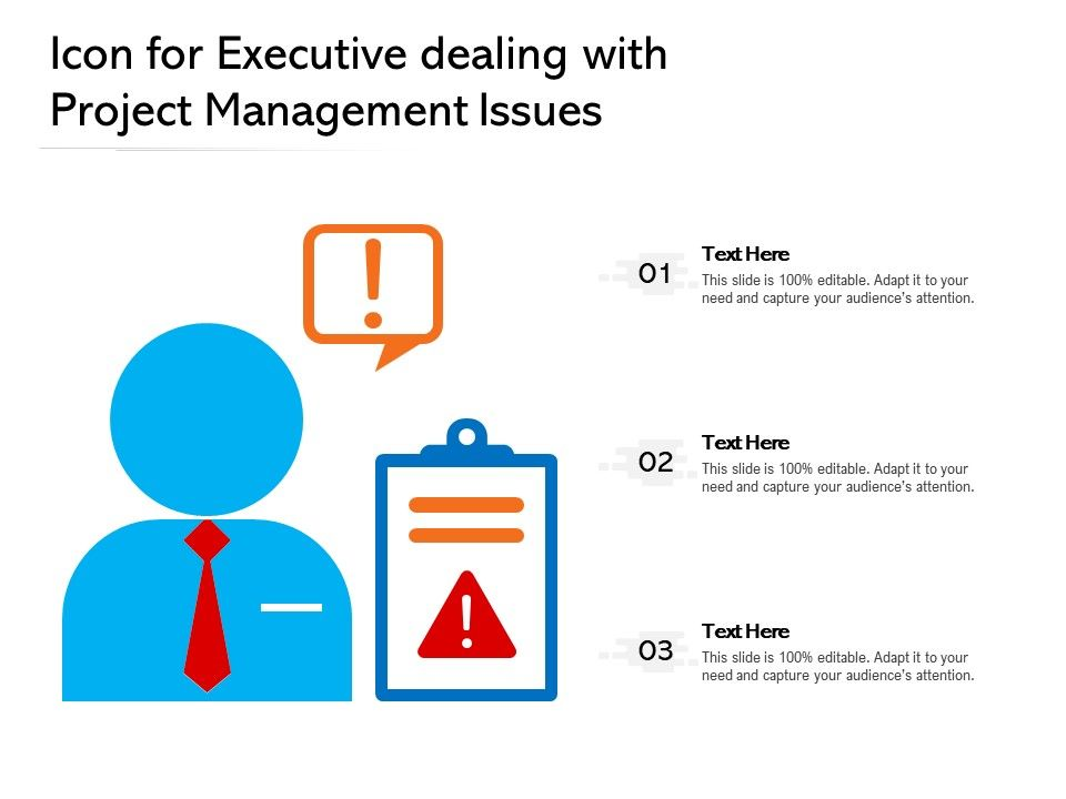 Icon For Executive Dealing With Project Management Issues
