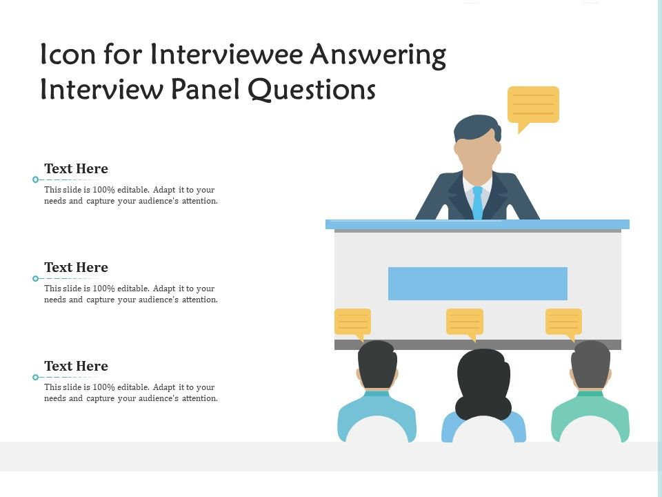 Icon For Interviewee Answering Interview Panel Questions