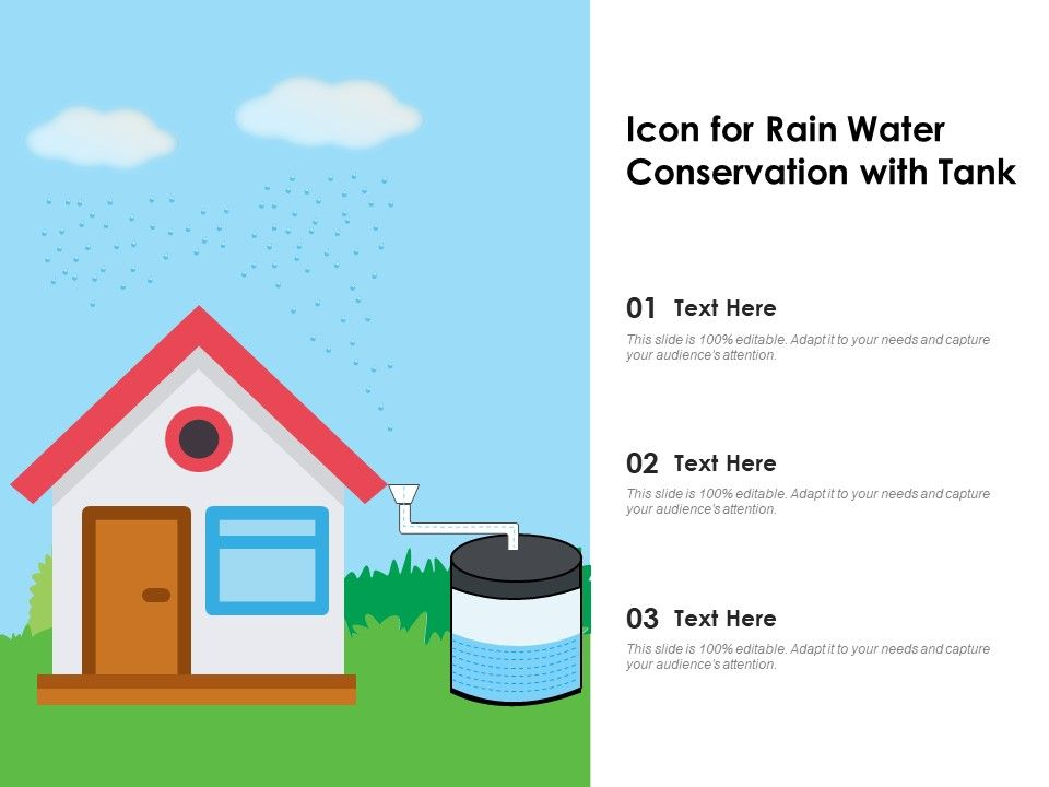 Icon For Rain Water Conservation With Tank