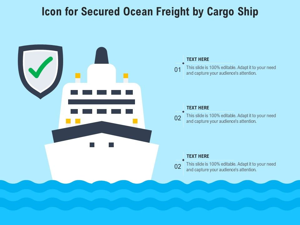 Icon For Secured Ocean Freight By Cargo Ship