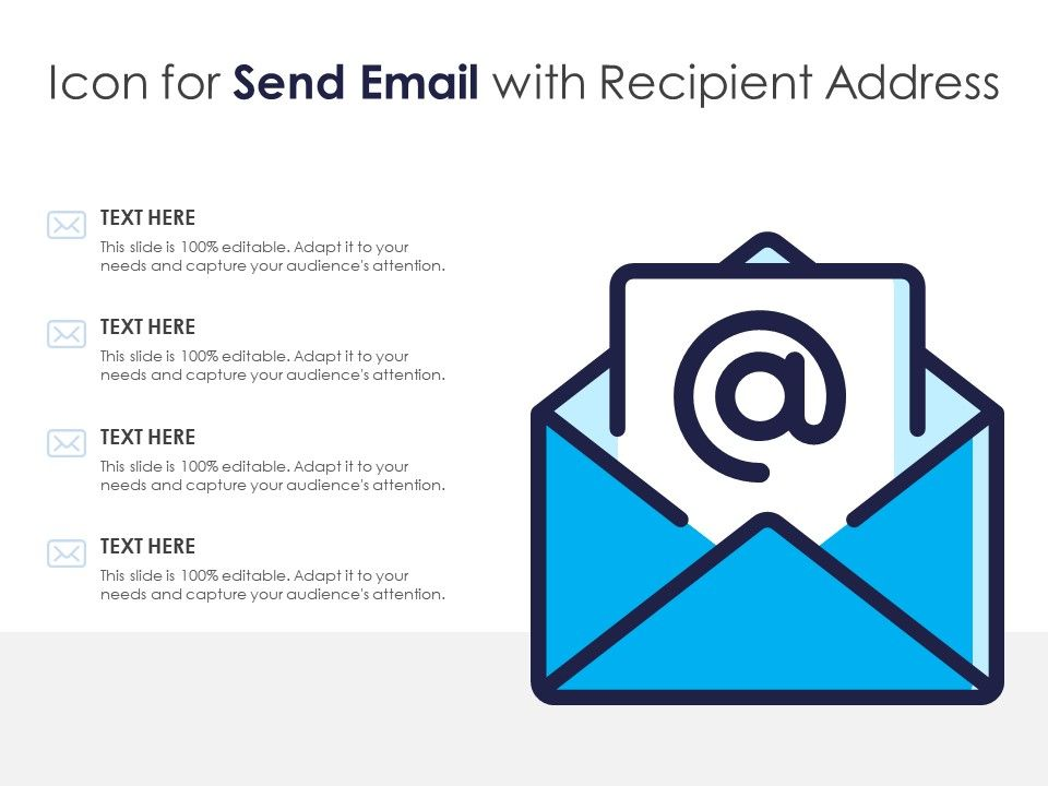 Icon For Send Email With Recipient Address