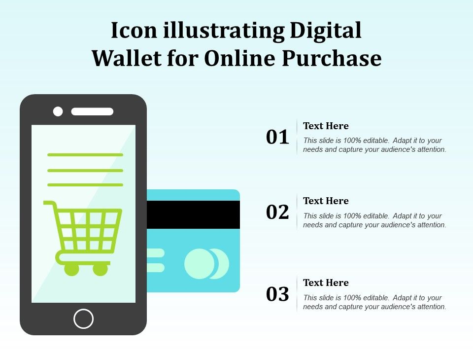 Icon Illustrating Digital Wallet For Online Purchase