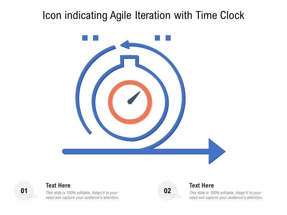 Icon Indicating Agile Iteration With Time Clock